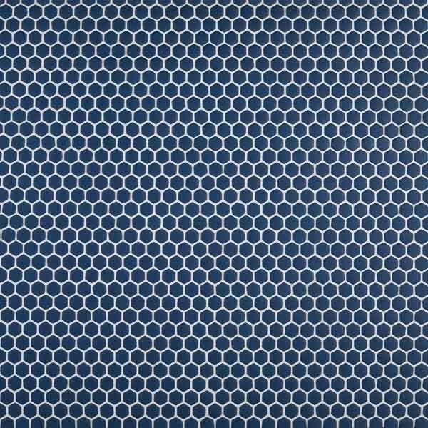 "Navy 5/8"" Hexagon Mosaic"