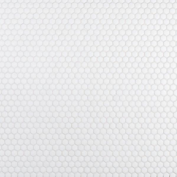 "White 5/8"" Hexagon Mosaic"