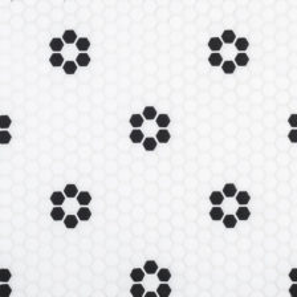 "Black Daily 5/8"" Hexagon Mosaic"