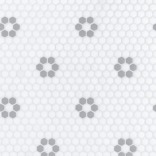 "Grey Daily 5/8"" Hexagon Mosaic"