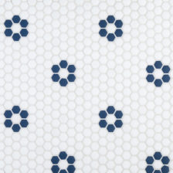 "Navy Daily 5/8"" Hexagon Mosaic"