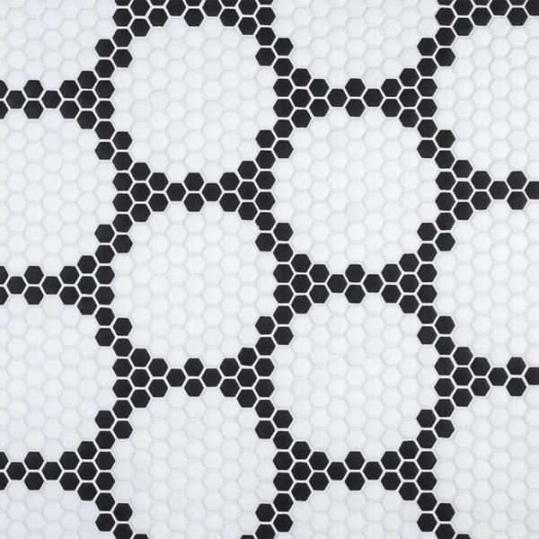 "Black Herald 5/8"" Hexagon Mosaic"