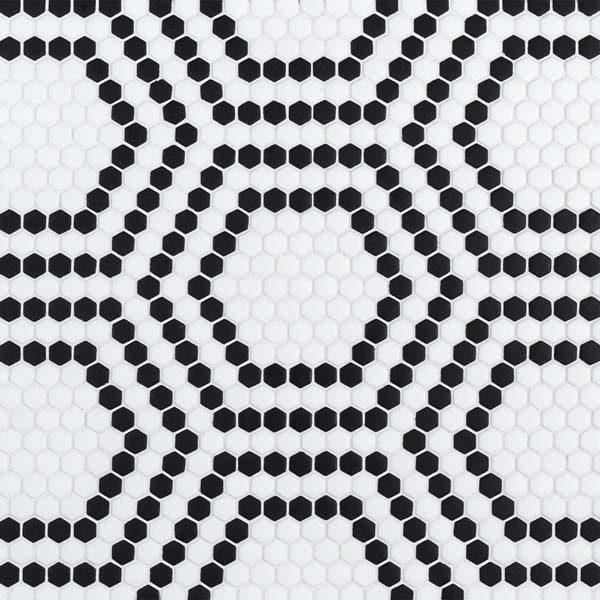 "Black Union 5/8"" Hexagon Mosaic"