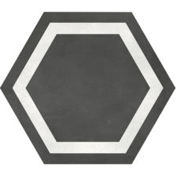 Graphite Hexagon Frame