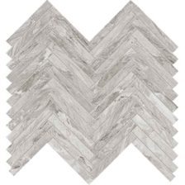 Silver herringbone