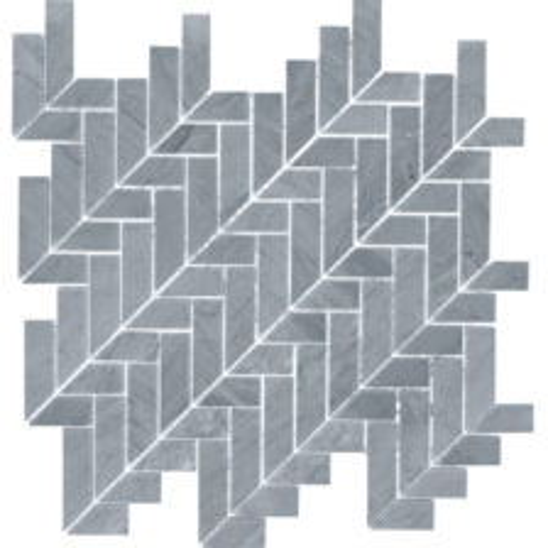 Bardiglio Mod Herringbone Mosaic