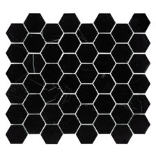 "Nero Marquina 2"" Hexagon Mosaic"