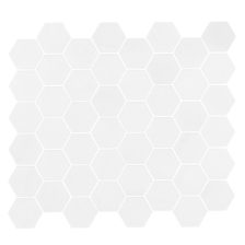 "Thassos 2"" Hexagon Mosaic"
