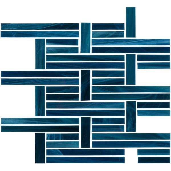 Cobalt Perpendicular Mosaic