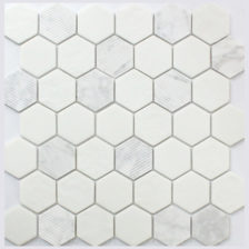 Rock Art Mosaics \ Hexagon - Carrara