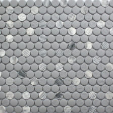 Rock Art Mosaics \ Penny Round - Gray Granite