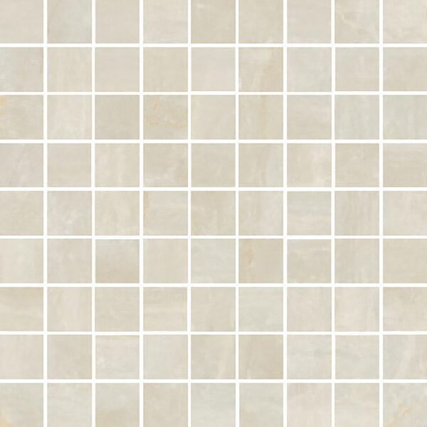 "Crema Matte 1 1/4"" x 1 1/4"" Mosaic"