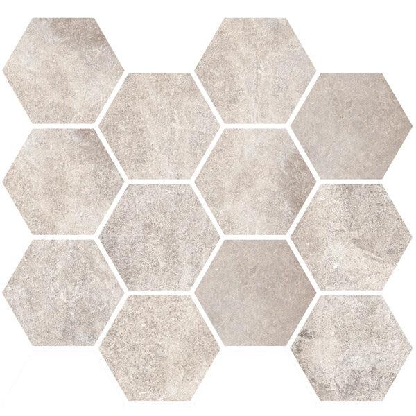 White Hexagon Mosaic
