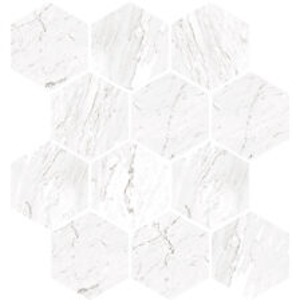Carrara White Hexagon Mosaic