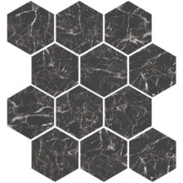 Marmo Nero Hexagon Mosaic