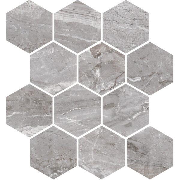 Oniciata Grey Hexagon Mosaic