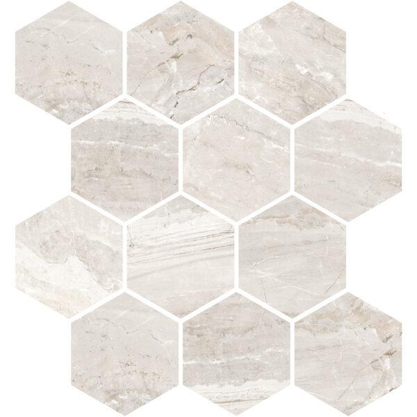Oniciata Ivory Hexagon Mosaic