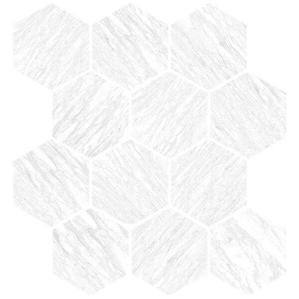 Volakas Silk Hexagon Mosaic