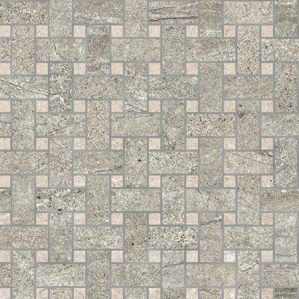 Oxide/Sand Moon Basketweave Mosaic