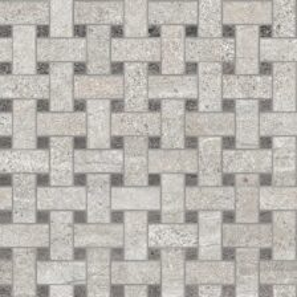 Rock Grey/Basalt Basketweave Mosaic