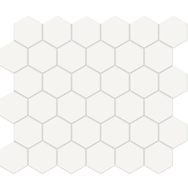 "Canvas White 2"" Hexagon"