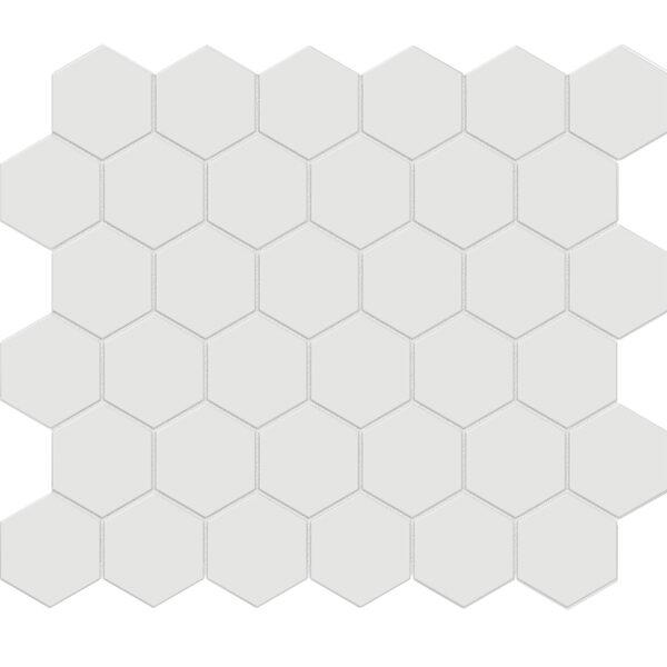 """Vintage Grey 2"""" Hexagon"""