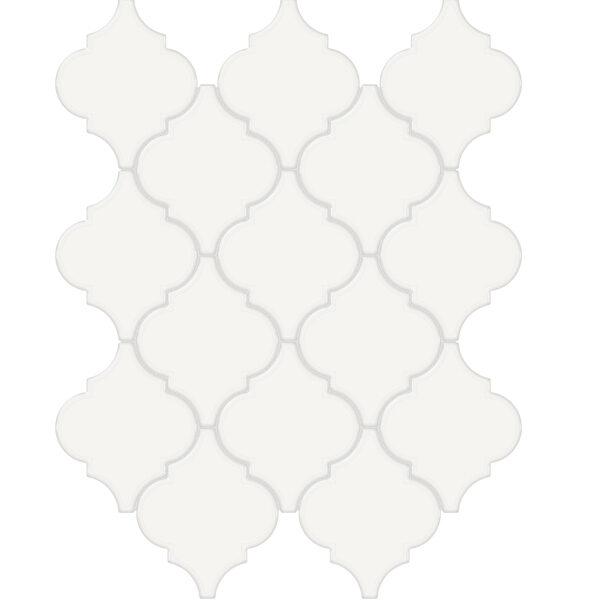 Canvas White Arabesque Mosaic