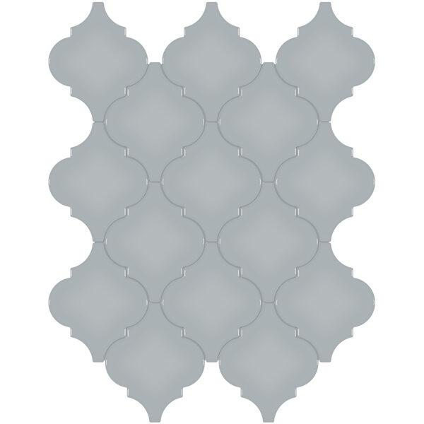 Cloud Blue Arabesque Mosaic