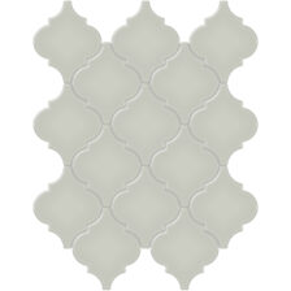 Soft Sage Arabesque Mosaic