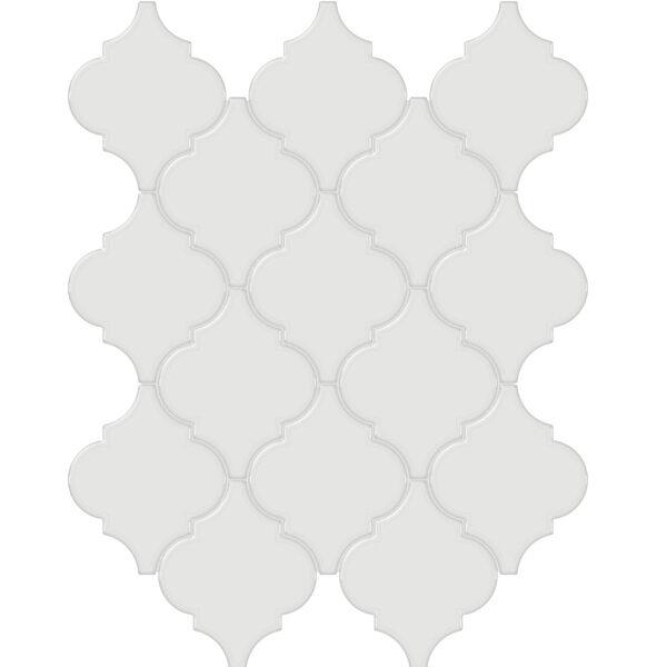 Vintage Grey Arabesque Mosaic