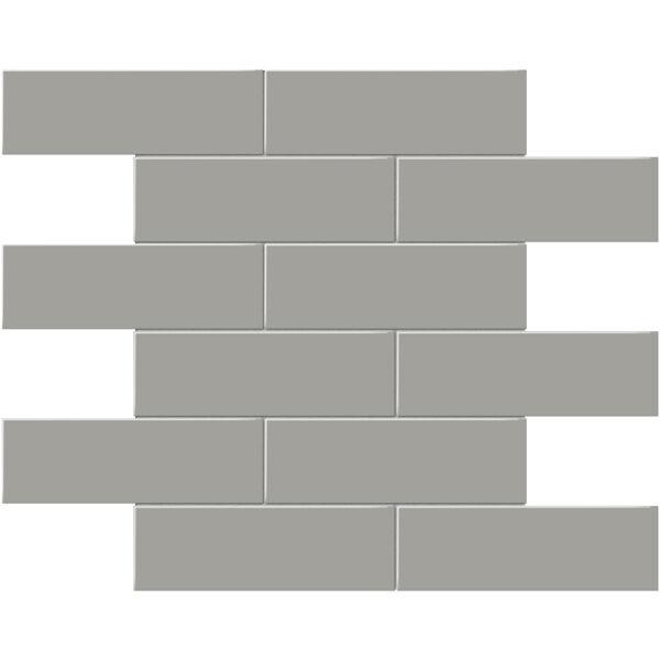 "Cement Chic 2"" x 6"" Brick Mosaic"