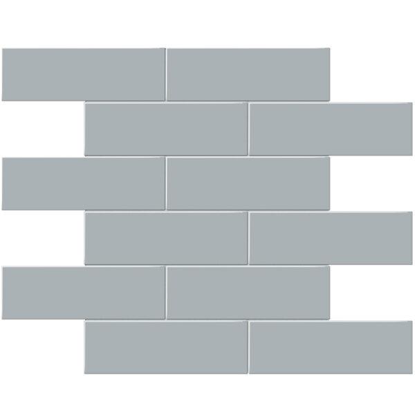 "Cloud Blue 2"" x 6"" Brick Mosaic"