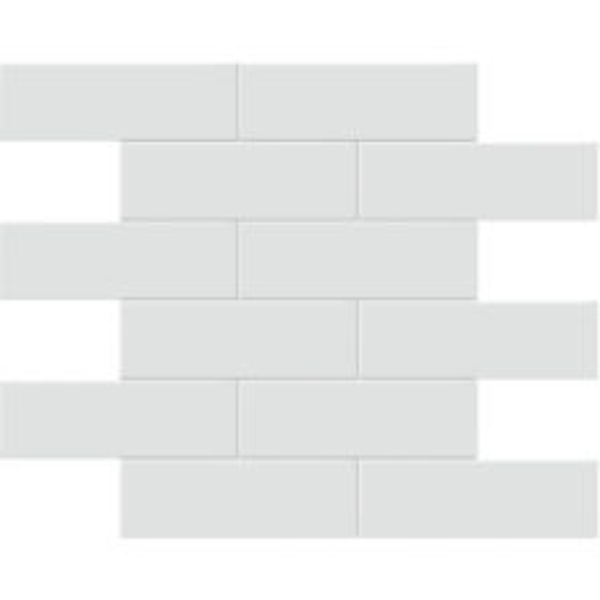 "Gallery Grey 2"" x 6"" Brick Mosaic"
