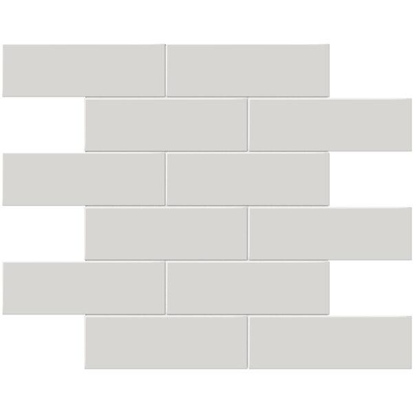 "Halo Grey 2"" x 6"" Brick Mosaic"