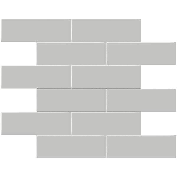 "Loft Grey 2"" x 6"" Brick Mosaic"