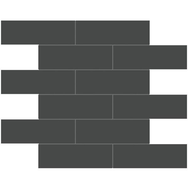 "Retro Black 2"" x 6"" Brick Mosaic"