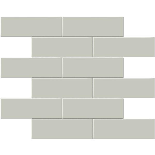 "Soft Sage 2"" x 6"" Brick Mosaic"