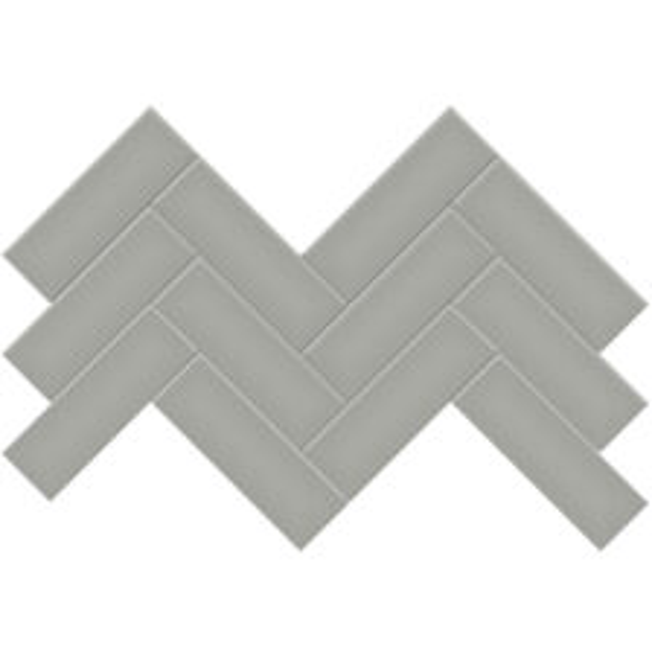 """Cement Chic 2"""" x 6"""" Herringbone Mosaic"""