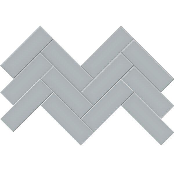 """Cloud Blue 2"""" x 6"""" Herringbone Mosaic"""