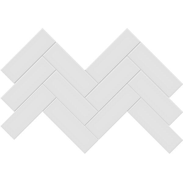 "Gallery Grey 2"" x 6"" Herringbone Mosaic"