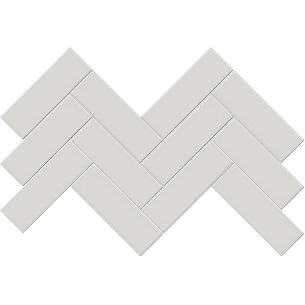 "Halo Grey 2"" x 6"" Herringbone Mosaic"