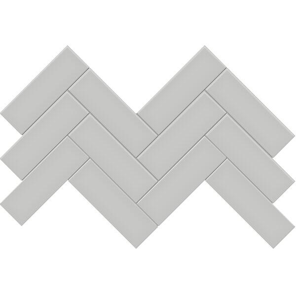 "Loft Grey 2"" x 6"" Herringbone Mosaic"