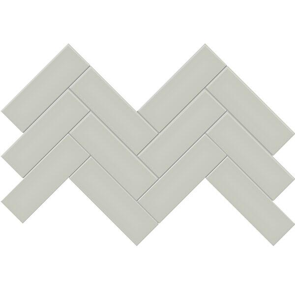"""Soft Sage 2"""" x 6"""" Herringbone Mosaic"""