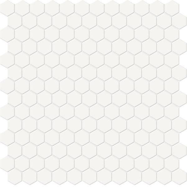 "Canvas White 1"" Hexagon Mosaic"