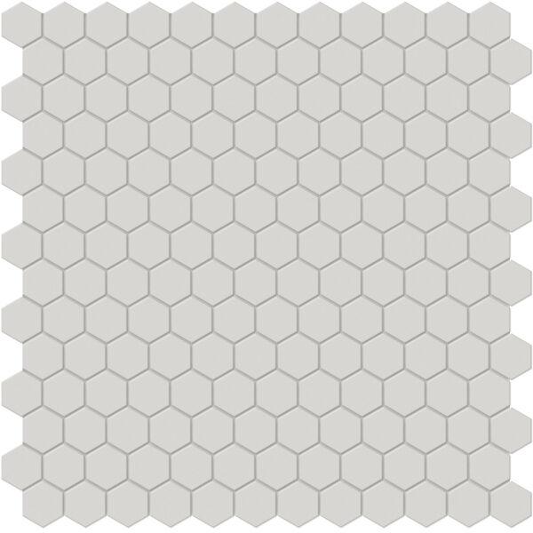 "Halo Grey 1"" Hexagon Mosaic"