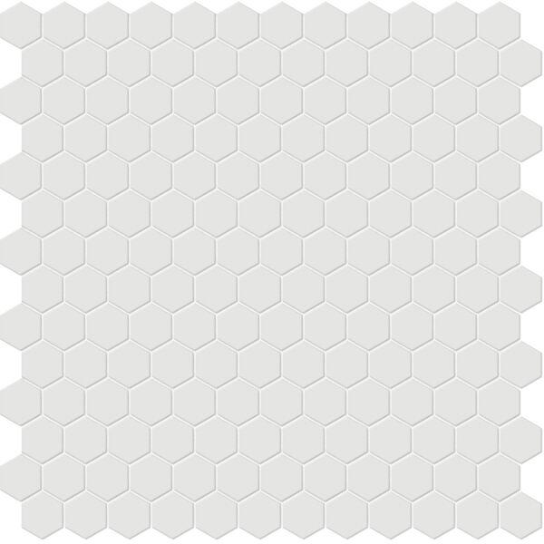 "Vintage Grey 1"" Hexagon Mosaic"