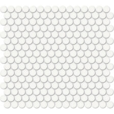 """Canvas White 3/4"""" Penny Round Mosaic"""