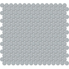 """Cloud Blue 3/4"""" Penny Round Mosaic"""