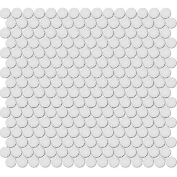 "Gallery Grey 3/4"" Penny Round Mosaic"
