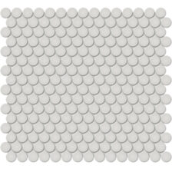 "Halo Grey 3/4"" Penny Round Mosaic"